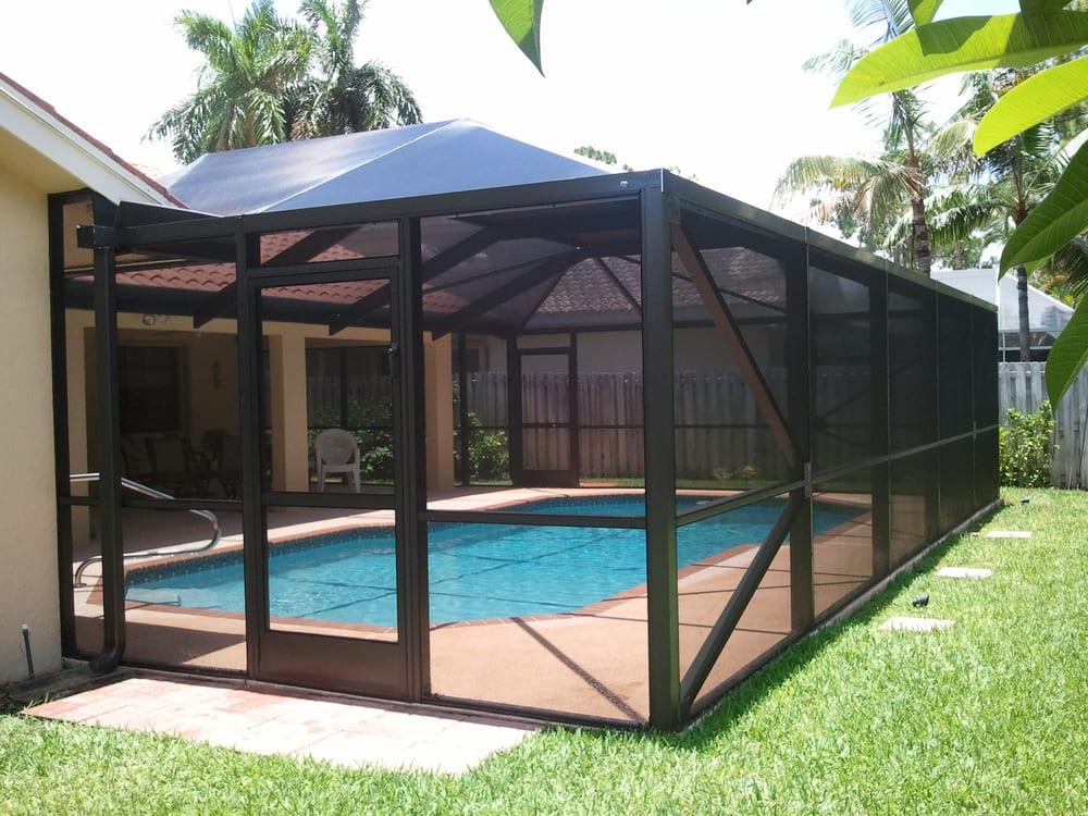 Adding a screened in pool enclosure over your pool or Screens for outdoor areas