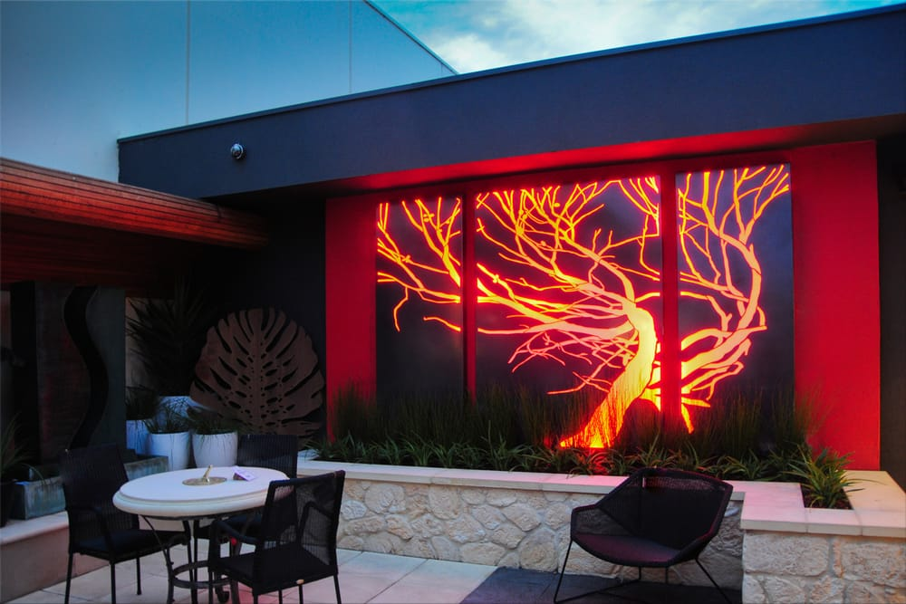 Q design light feature illuminated using led strip lighting yelp photo of led outdoor kent town south australia australia q design light feature aloadofball Image collections