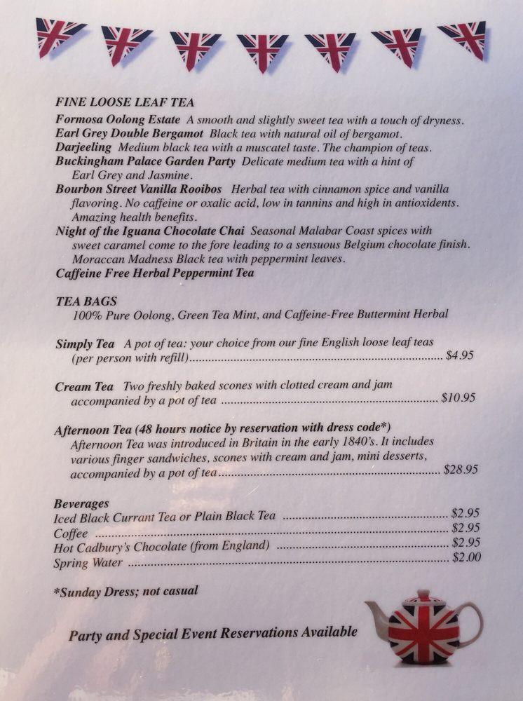 Online Menu Of Finds English Tea Room Restaurant Burnet