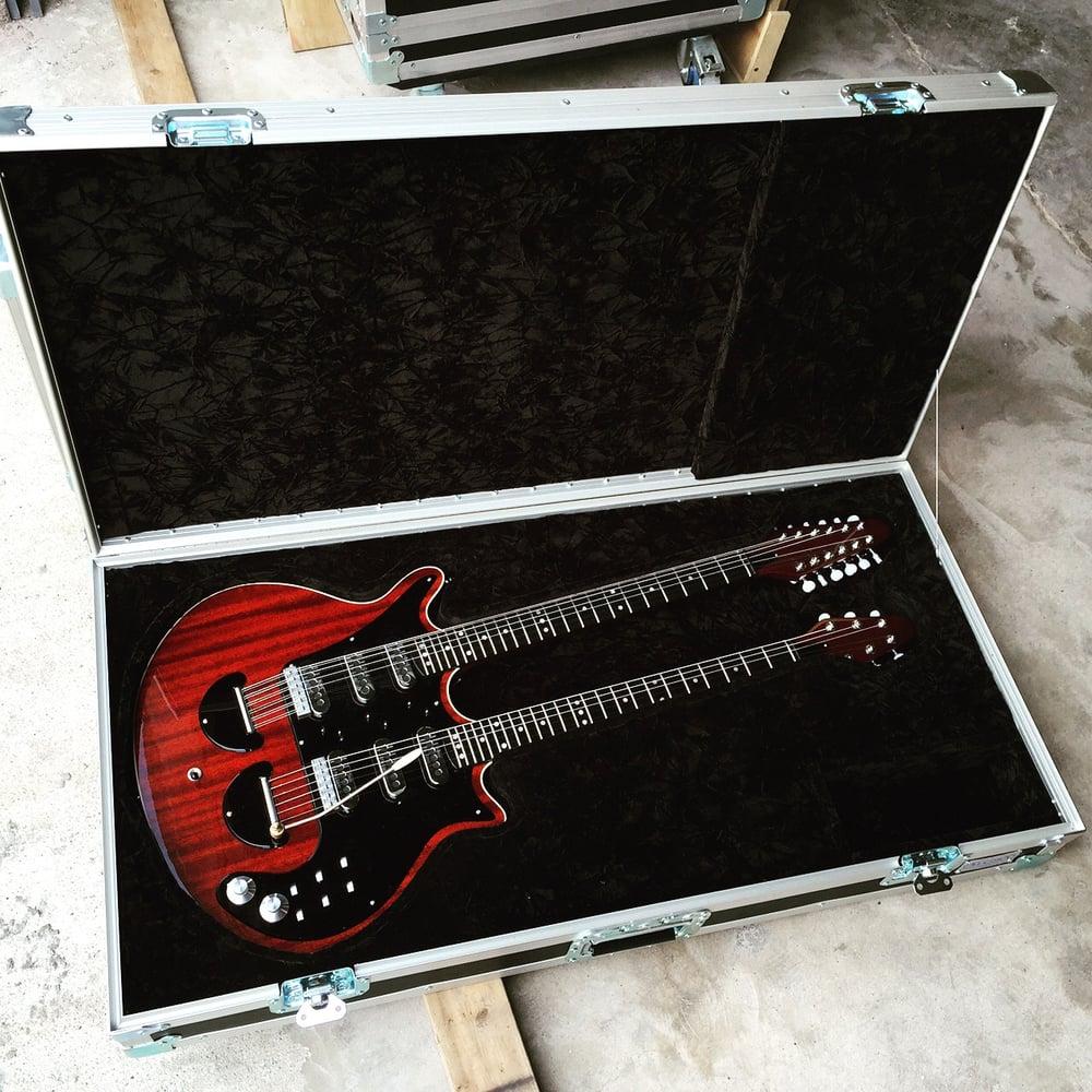 double neck guitar case we built for a trade show black velvet lined interior yelp. Black Bedroom Furniture Sets. Home Design Ideas