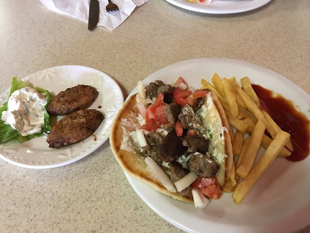 Photo of Authentic Greek Cuisine - Denver, CO, United States. My standard. Gyro/fries and a falafel side. So good! Yes I may have ate there again today.