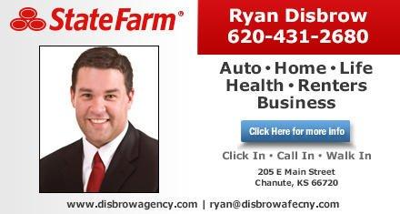 Ryan Disbrow - State Farm Insurance Agent: 205 E Main St, Chanute, KS