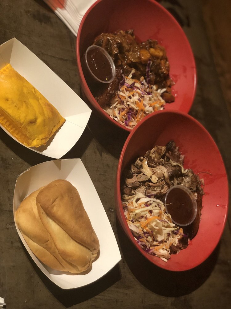 Food from Pimento Jamaican Kitchen