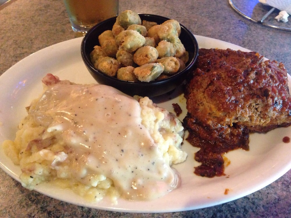 Monday Meatloaf Special With Mashed Potatoes And Gravy And