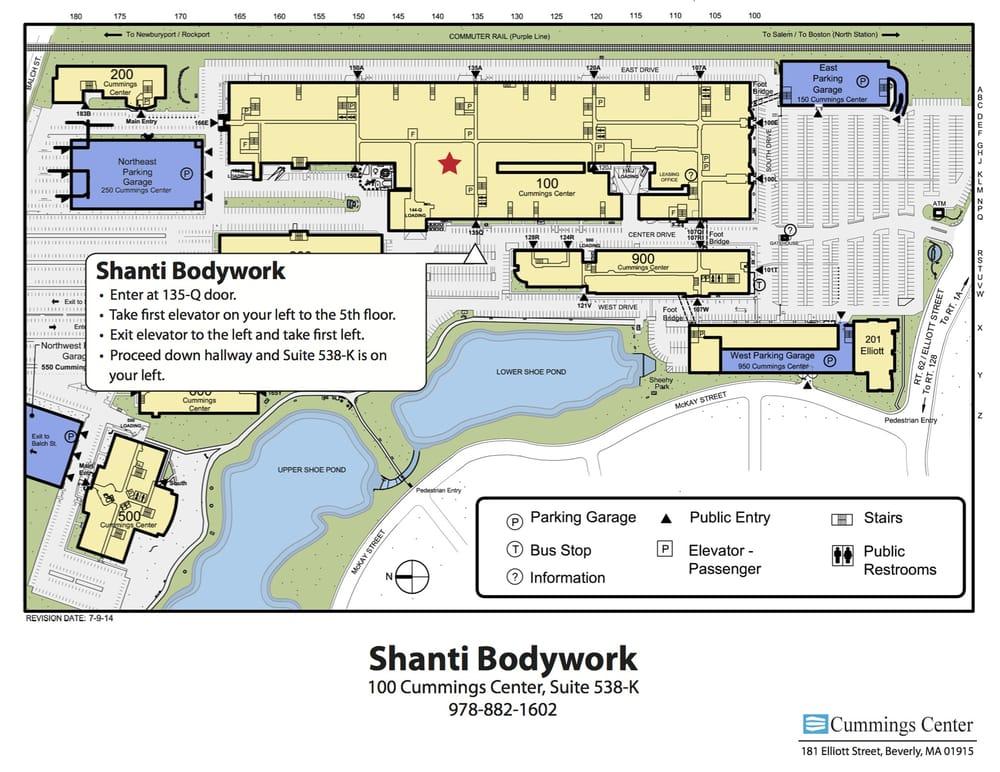 Shanti Bodywork: 100 Cummings Ctr, Beverly, MA