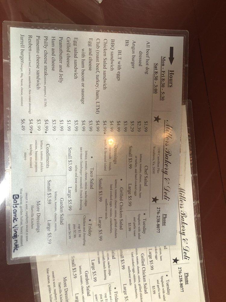 Miller's Bakery & Deli: 3232 Carrollton Pike, Woodlawn, VA