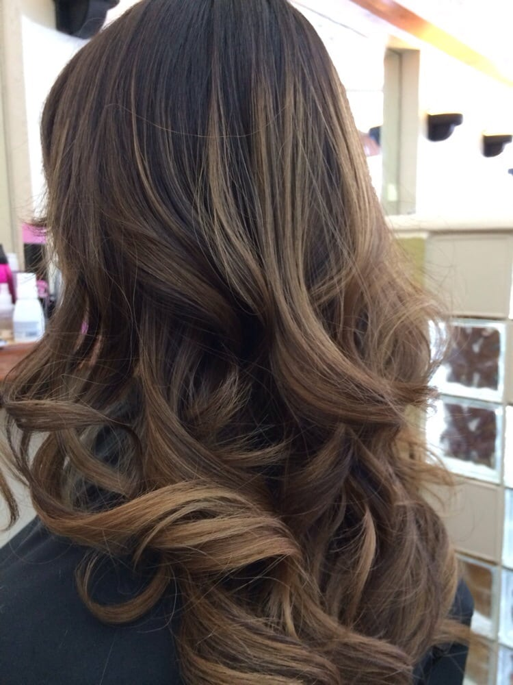 Balayage ombre by lasandra honey caramel yelp for Balayage braun caramel