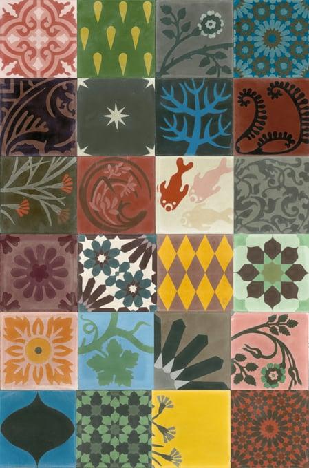 Carreaux en ciment motifs de 2 6 couleurs selon choix en patchwork al at - Carreaux de ciment patchwork ...