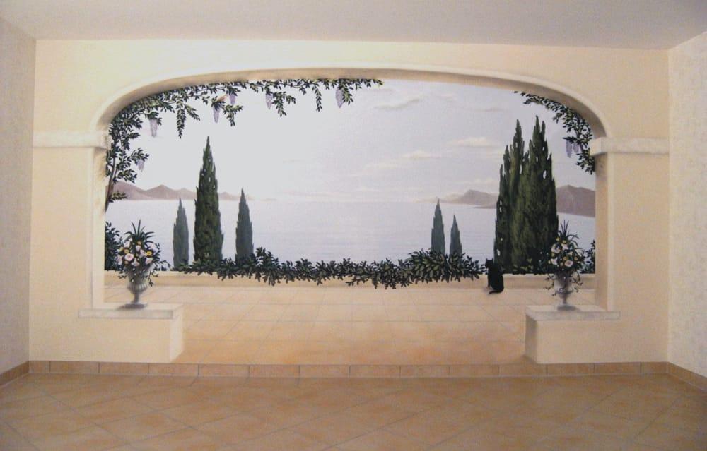 Illusionsmalerei Terrasse Mit Blick Aufs Meer - Yelp Terrassen Design Meer Bilder