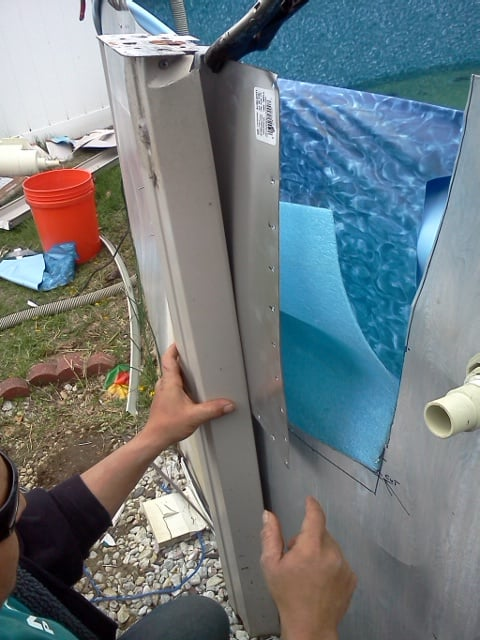 Swimming Pool Wall Replacement : Ncp pool tech repairing a rusted out wall dont trash