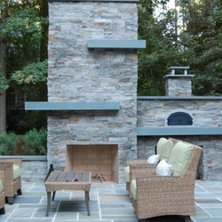 Photo Of Lake Norman Hardscapes Cornelius Nc United States Modern Fire Place