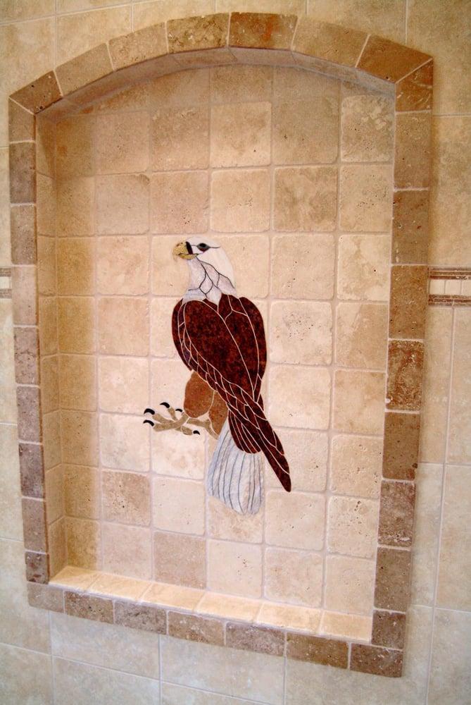 Photo Of All Tile Blaine Wa United States Natural Stone Eagle Mural