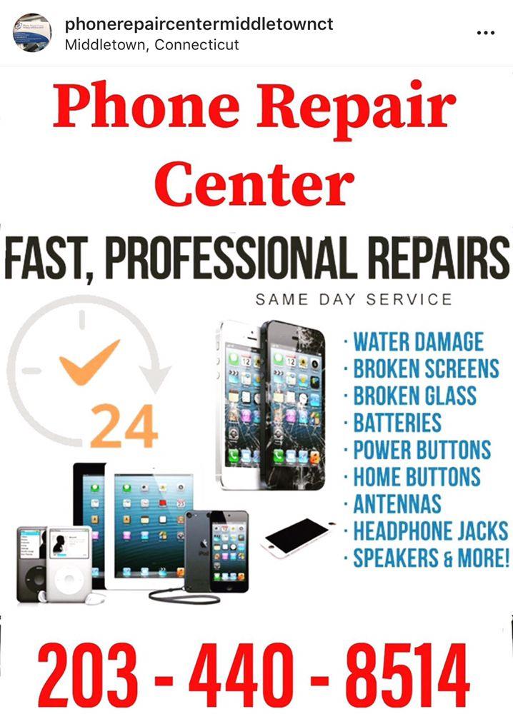 Phone Repair Center: 578 Main St, Middletown, CT