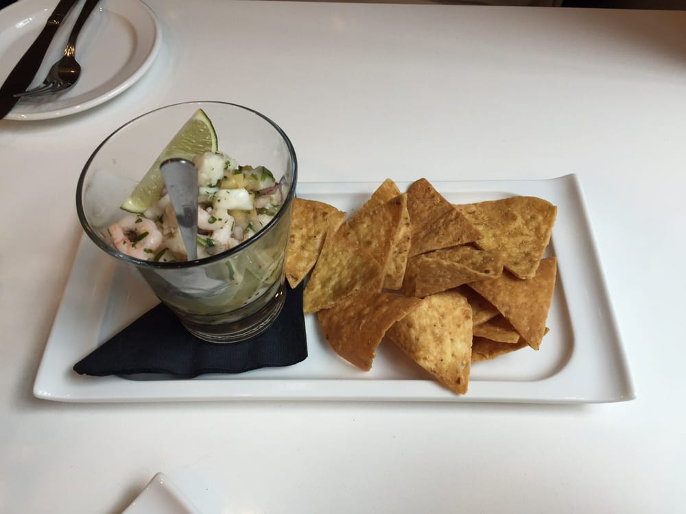 Ceviche (citrus cured seafood melange & tortilla chips) - Yelp