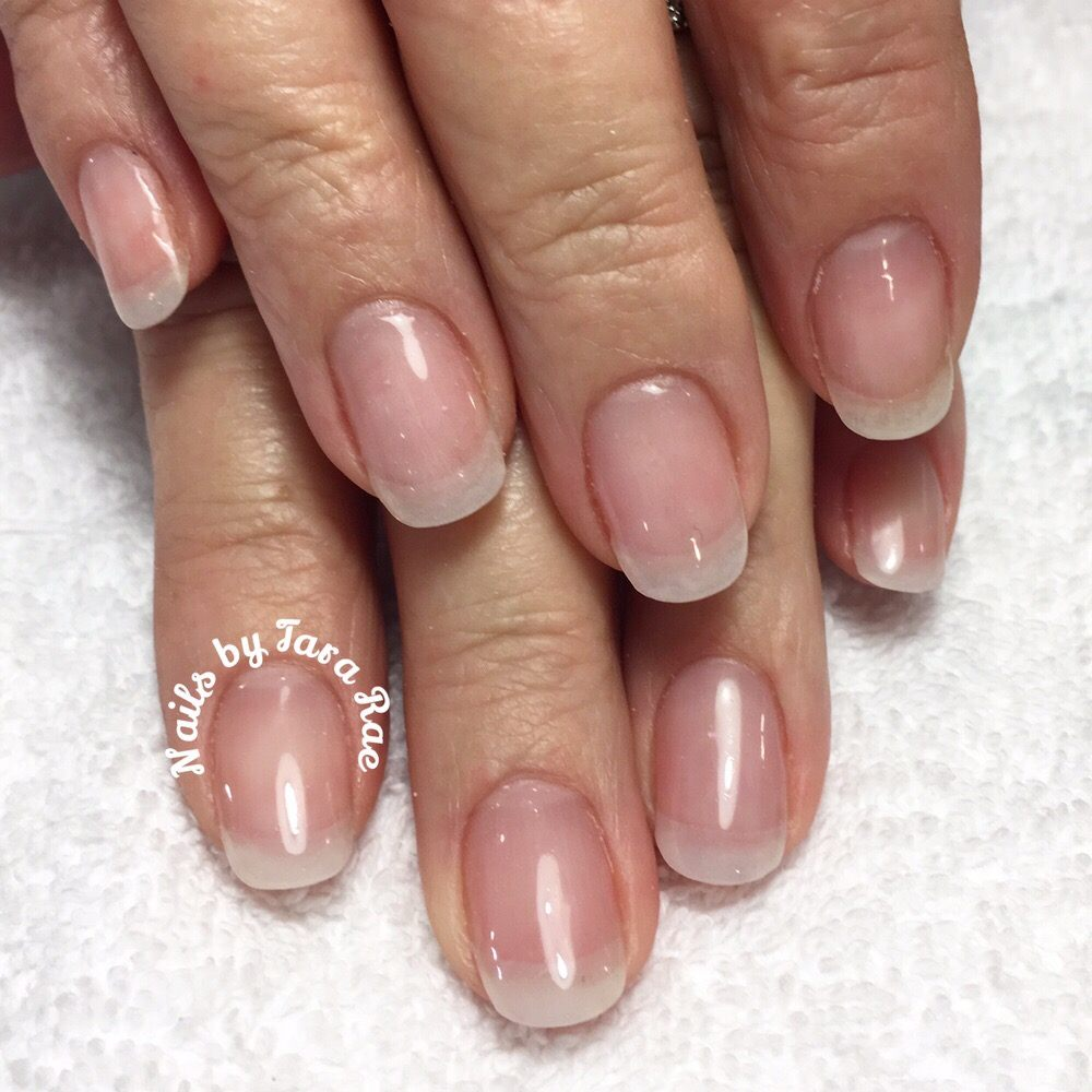 Natural looking acrylic nails. Pink and natural acrylic overlay - Yelp