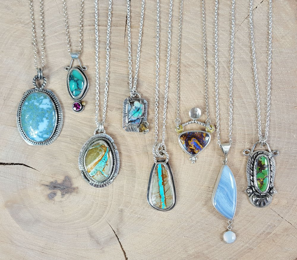 Handcrafted sterling silver jewelry with natural gemstones for Local handmade jewelry near me
