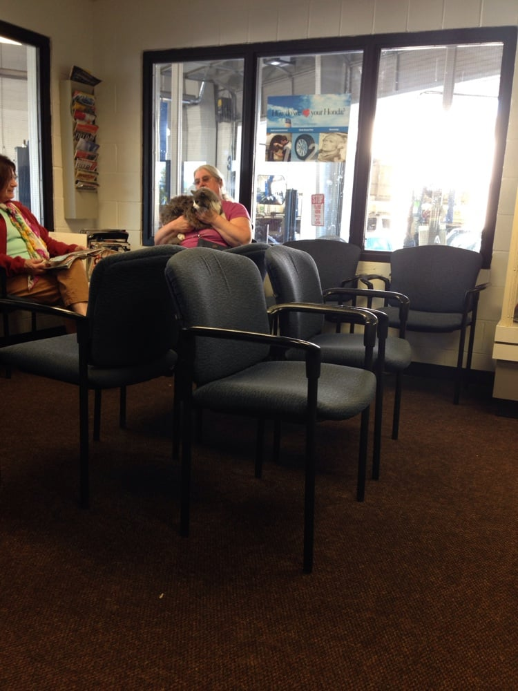 The waiting room wow some lady even brought her cat lol for Lithia honda medford or