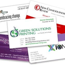 Green solutions printing printing services 210 wallis st eugene photo of green solutions printing eugene or united states business cards from reheart Choice Image