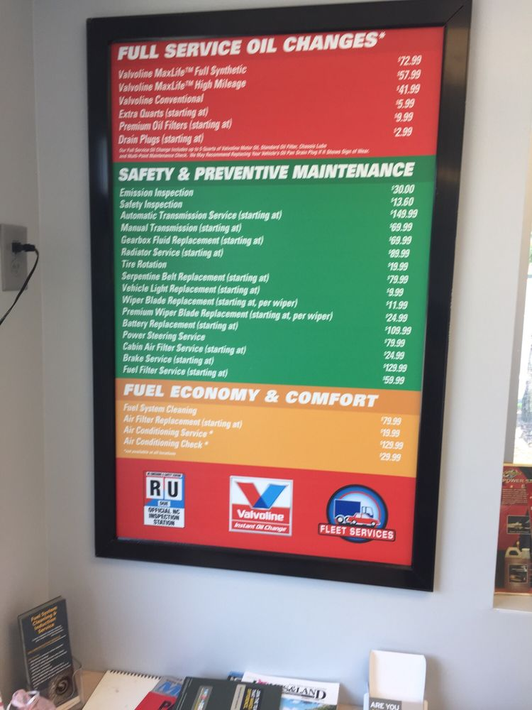 Valvoline Instant Oil Change: 7856 Idlewild Rd, Indian Trail, NC