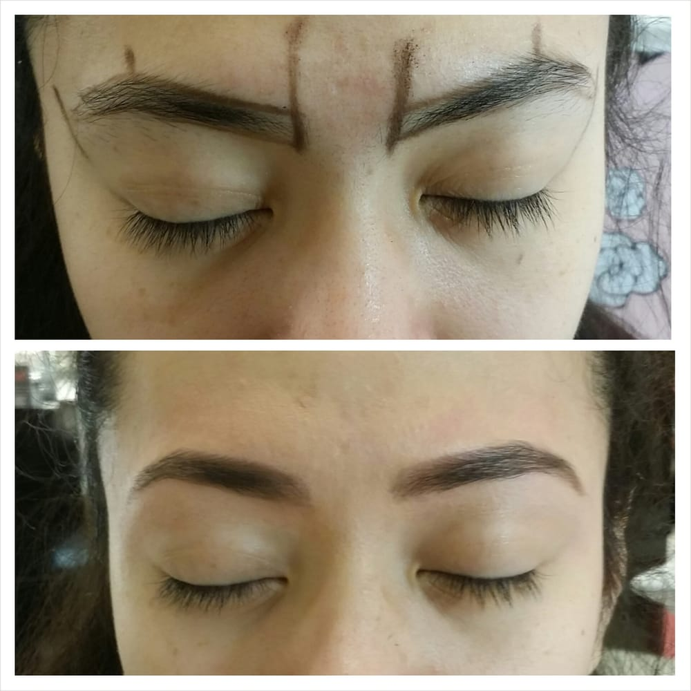 Before & After! Took my sister to get her brows done! - Yelp
