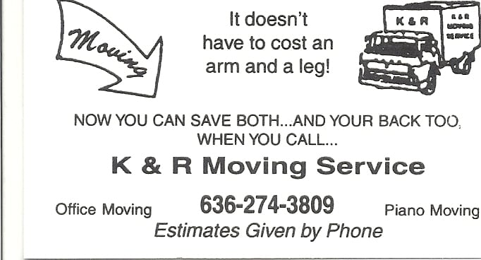 K & R/ Ken's Moving Service: Cedar Hill, MO