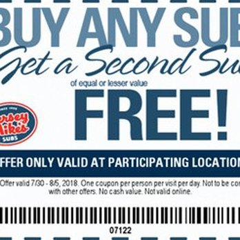 photograph regarding Jersey Mike's Printable Coupon known as Jersey Mikes Subs - 78 Illustrations or photos 112 Opinions - Sandwiches