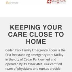 Cedar Park Family Emergency Room 17 Photos Emergency