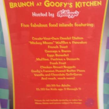 Goofy S Kitchen Prices