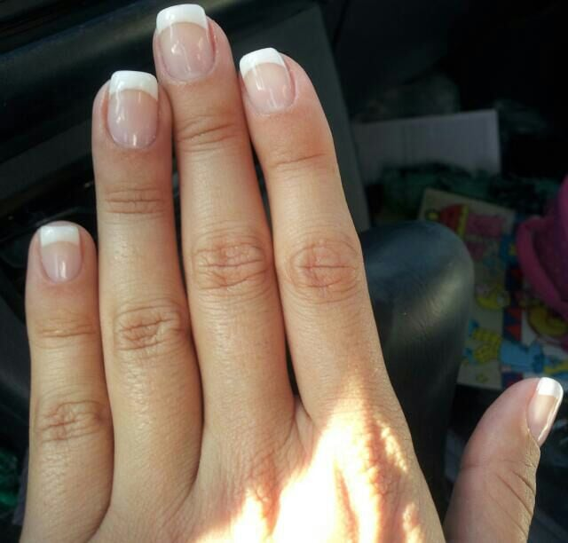My french tip gel nails!!!! - Yelp