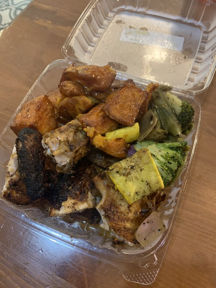 Food from Chimichurri Charcoal Chicken