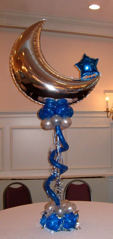 Crescent moon centerpiece for retirement party yelp