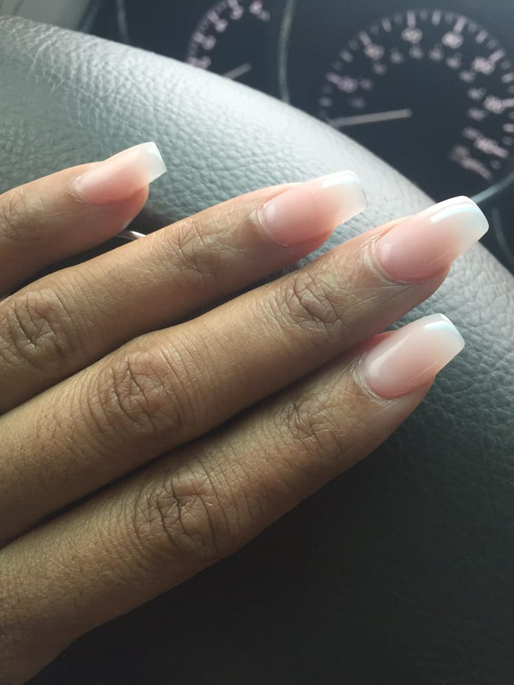 Coffin nails with natural nude polish done by Jennifer. - Yelp