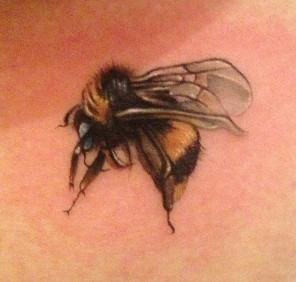 My honey bee courtesy of mikey c it 39 s the size of a for My tattoo shop hollywood