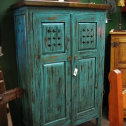 Superbe Photo Of Rustic Home   Albuquerque, NM, United States. Turquoise Small  Cross Cabinet
