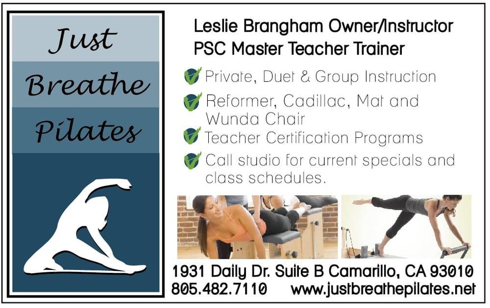 Just Breathe Pilates: 1931 Daily Dr, Camarillo, CA