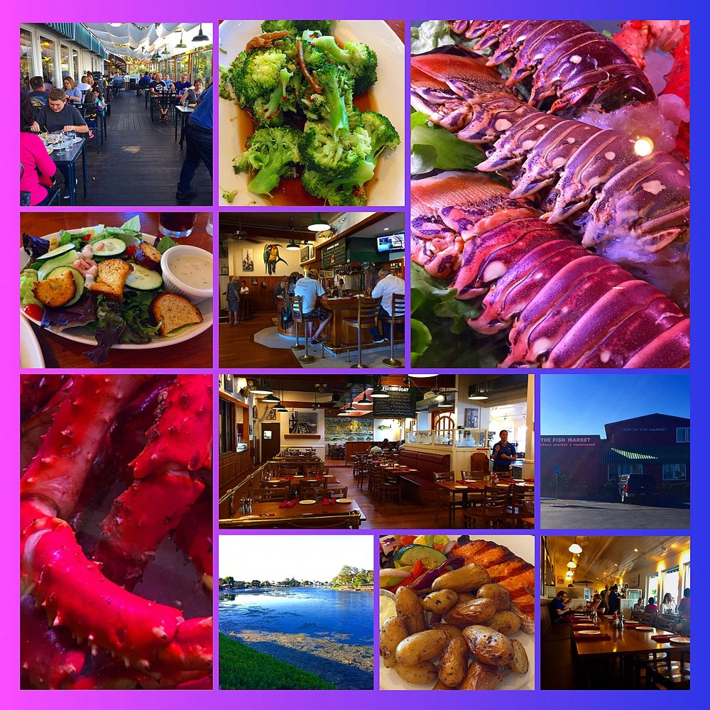 Montage of images from the fish market yelp for The fish market san mateo