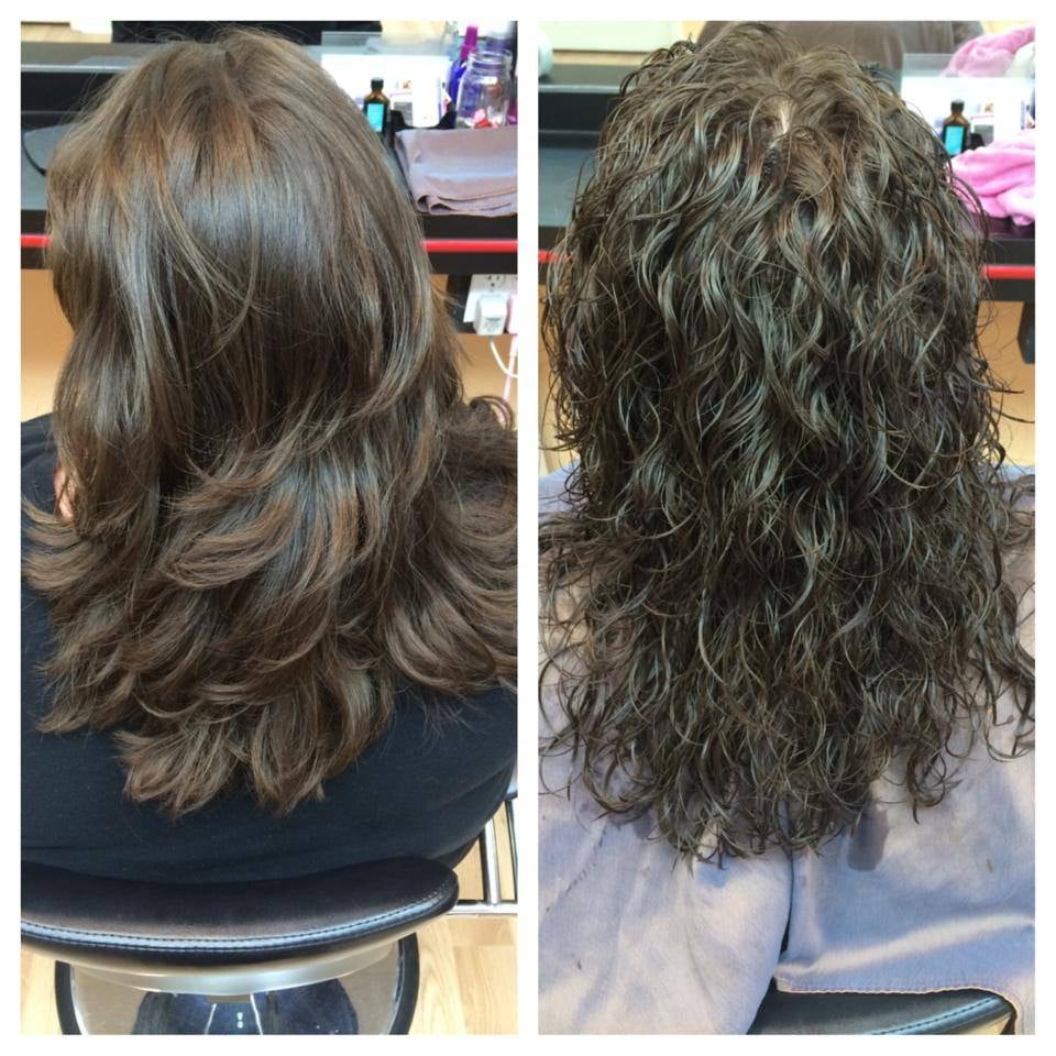 Before And After Pix Of Permed Hair Beach Wave Perm
