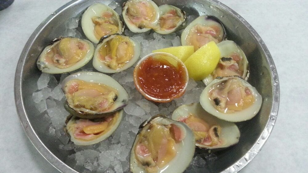 Top neck clams on the half shell. - Yelp