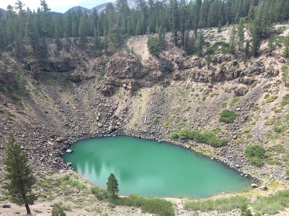 inyo crater s emerald green lake yelp