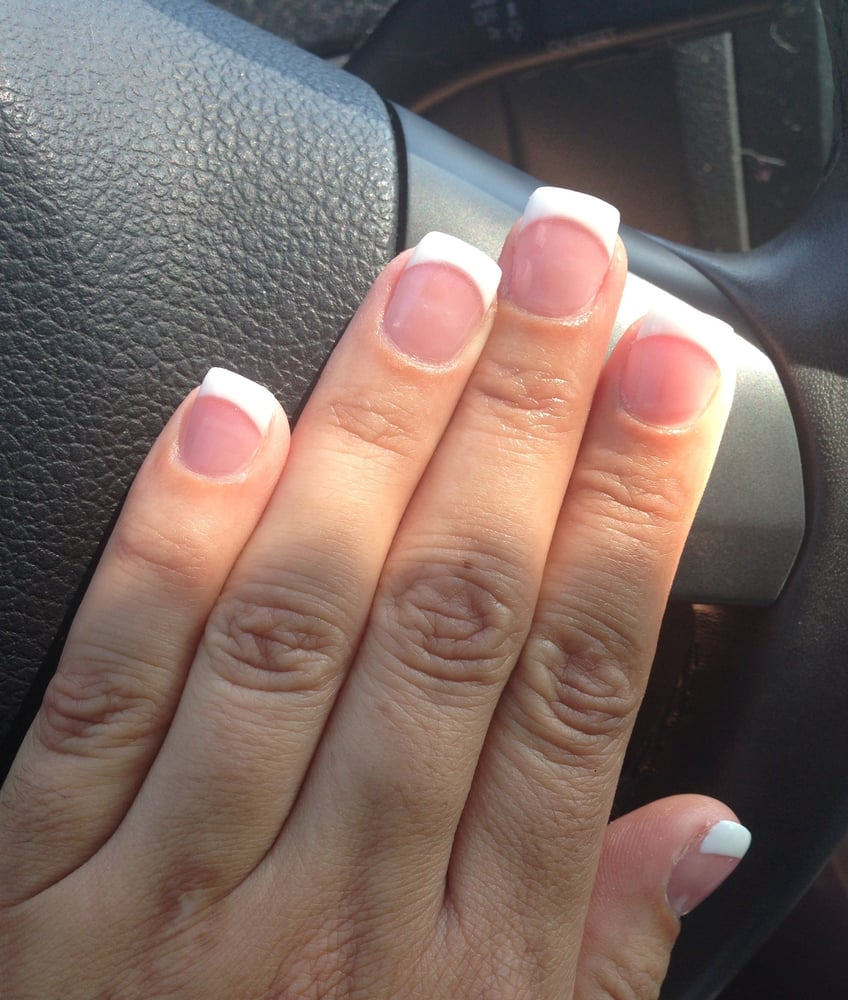 Full set, pink and white with gel - Yelp