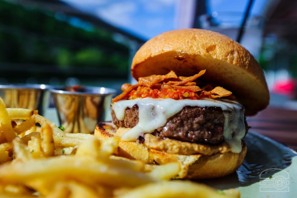 Hummus tapenade burger yelp for Table 9 morgantown