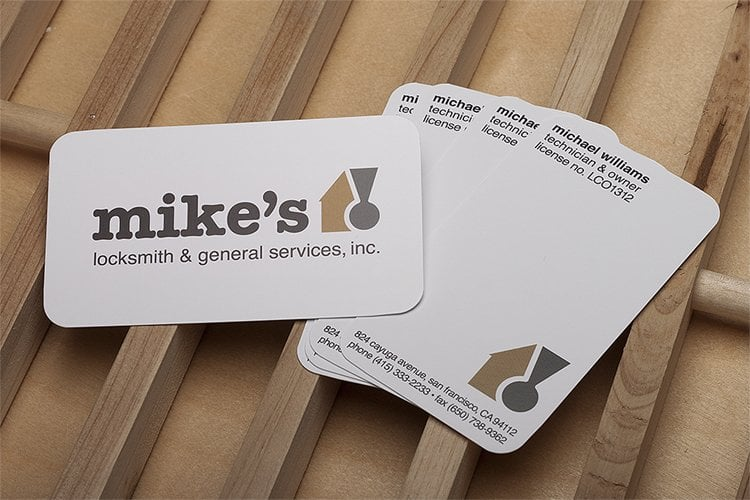 Mikes locksmith so awesome i even designed his business cards photo of mikes locksmith general services san francisco ca united states reheart Images