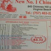 New Number  Chinese Restaurant Virginia Beach Va