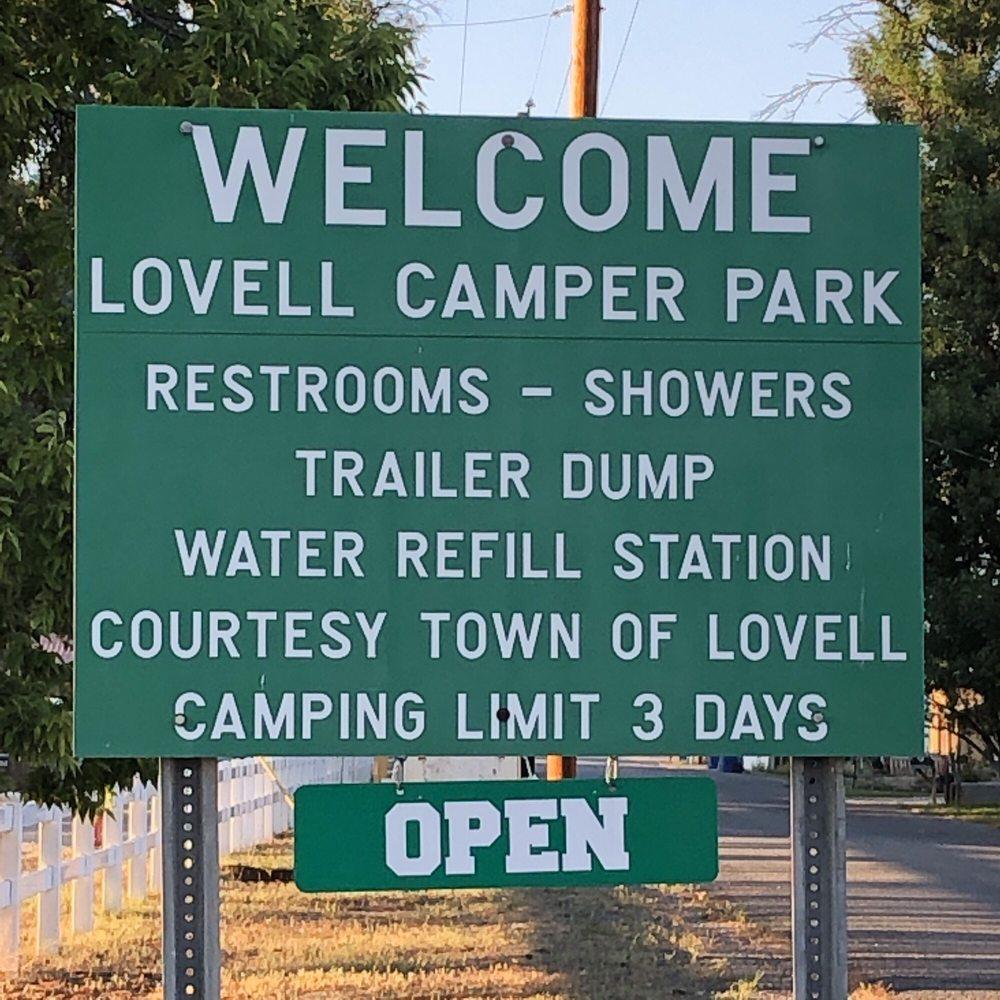 Lovell Camper Park: 40 Quebec Ave, Lovell, WY