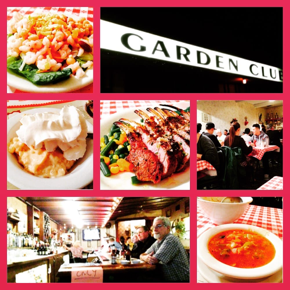 Montage of images from the Garden Club Restaurant Yelp