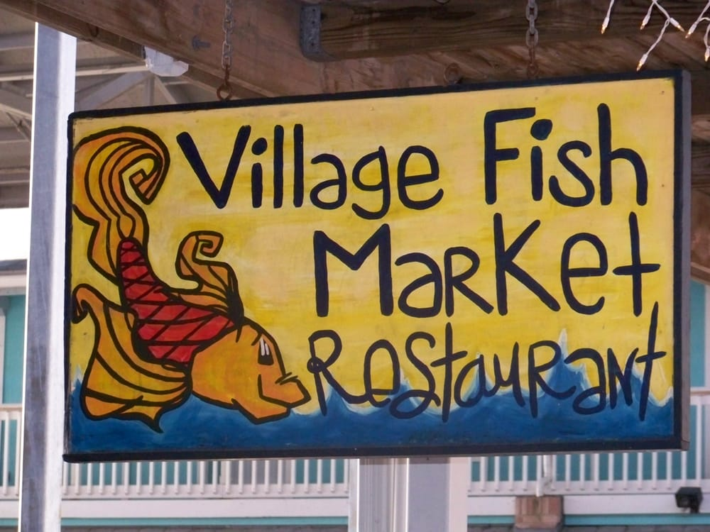 Where new england meets florida sit back relax and enjoy for Village fish market