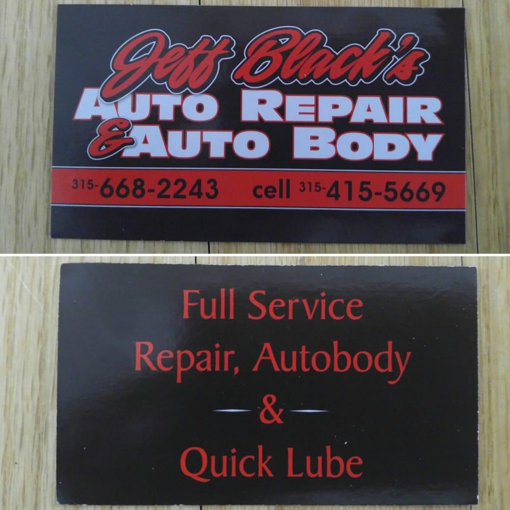 Jeff Black's Auto Repair: 1021 US Rte 11, Central Square, NY