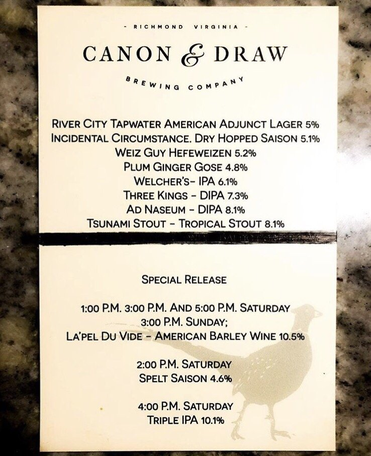Grand opening beer list 3/10/18 - Yelp