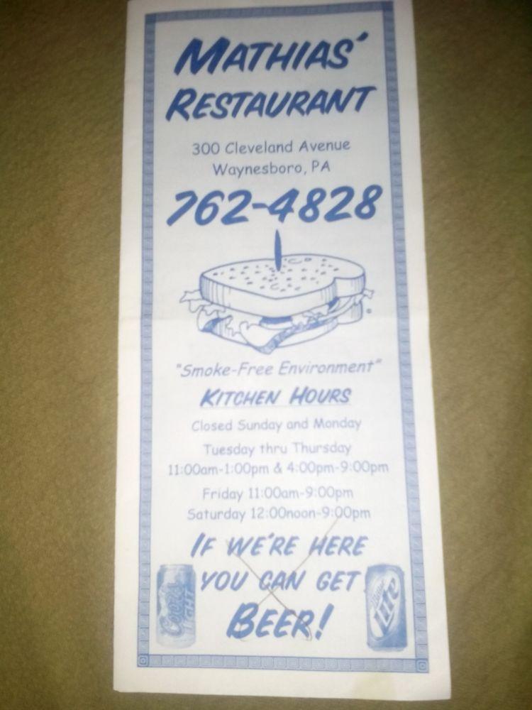Mathias Restaurant 11 Photos Delis 300 Cleveland Ave Waynesboro Pa Reviews Phone Number Yelp