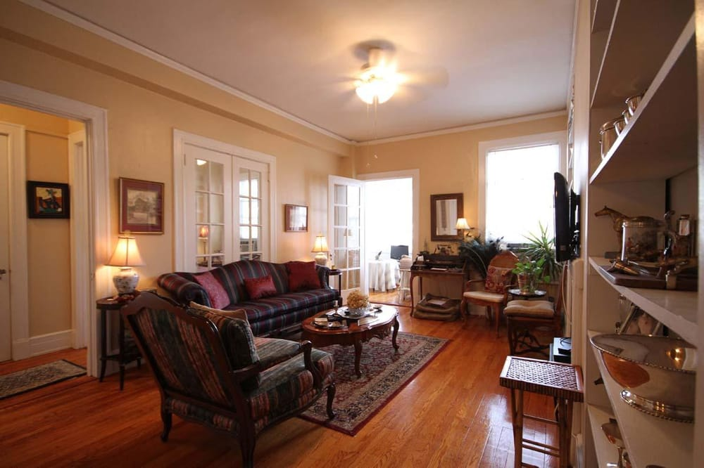 This 784 Square Foot Condo Has A Lovely Light Filled Sunroom Off Of